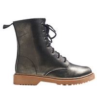 Metallic Combat Boot