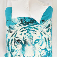 Robert Farkas For DENY White Tiger Duvet Cover - Urban Outfitters