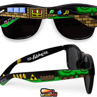 Legend of Zelda glasses - Wayfarer glasses unique hand painted - sword - Triforce - dungeon - video game