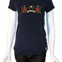 Sailor Jerry Capistrano Womens Tee Navy Dames T-shirts at Broken Cherry