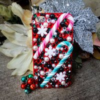 Christmas Candycane Red & Green iPhone 4/4s Case- Candy Cane Lane