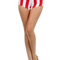 High Waist Americana Shorts | OnlyLeggings.com - Women's Fashion Superstore