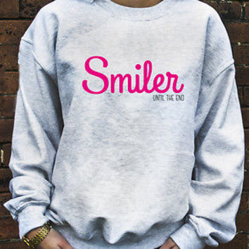 Smiler Until The End Jumper Hoodie Miley Cyrus Fan T-Shirt Bangerz Hoody N121
