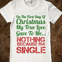 FIRST DAY OF CHRISTMAS SINGLE GIRL