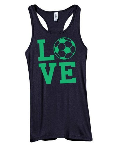 Love Soccer Racerback Juniors Tank