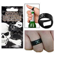 Ring Bottle Opener Skull And Cross Bones