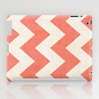 Vintage Coral Chevron iPad Case by Ann B.