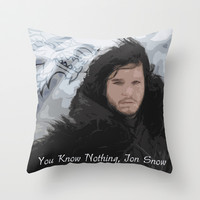 Game of Thrones * Jon Snow * House Stark * Tv Series Inspiration Throw Pillow by Freak Shop