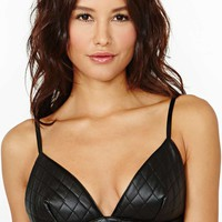 Ryder Faux Leather Bustier Bra