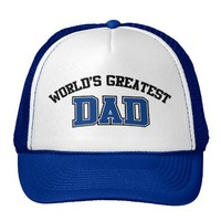 Worlds Greatest Dad Hat Blue