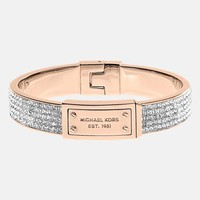 Michael Kors Logo Plaque Pavé Hinged Bangle | Nordstrom