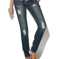 Splattered Paint Skinny Jean - WetSeal