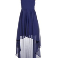 Cut Out High-Low Dress - Kely Clothing