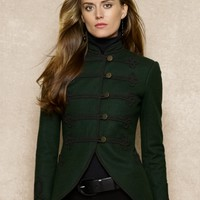 Embroidered Wool Jacket - Jackets   Women - RalphLauren.com
