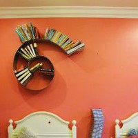 Spiral Bookshelf by briannakufa on Etsy