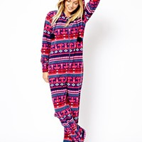New Look Reindeer Fairisle Onesuit