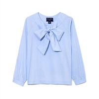 GIRLS' BOW BLOUSE