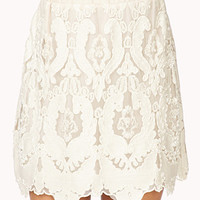 Regal Embellished Mini Skirt