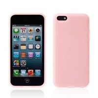 Mooncolour Double Color Hard Shell Anti-scratch Clear Back Hard Case for Iphone 5C (Pink)