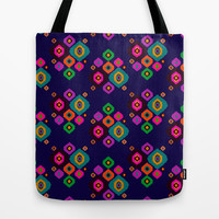 Ikat Argyle Tote Bag by Nina May