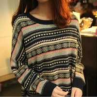 Loose cute colorful vintage sweater