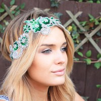 Bethel Bohemian — Spencer Sequin Floral Patch Headband