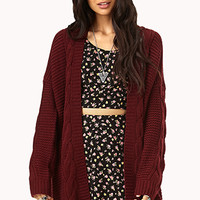 Longline Mixed Knit Cardigan