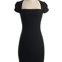 Sleek It Out Dress in Black | Mod Retro Vintage Dresses | ModCloth.com