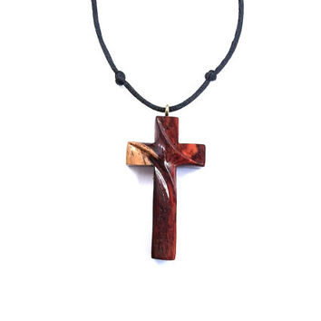 Christian Jewelry, Wooden Cross Necklace, from GatewayAlpha