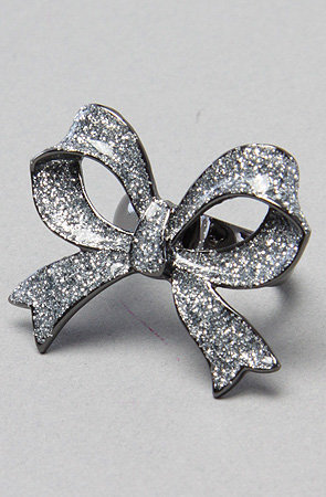 Karmaloop.com - Global Concrete Culture - The Snow Angel Crystal Bow Ring by Betsey Johnson