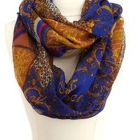 Mixed Print Infinity Scarf: Charlotte Russe