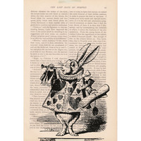 vintage dictionary art book page print ALICE IN WONDERLAND No. 3 - alice in wonderland dictionary art print