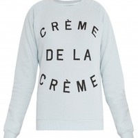 Boutique 1 - ZOE KARSSEN - Blue  Crème De La Crème Sweater | Boutique1.com