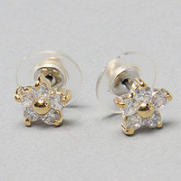 Karmaloop.com - Global Concrete Culture - The Snow Angel Flower Stud Earring by Betsey Johnson