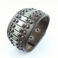 Adjustable Punk Leather Rivets Bracelet  mens bracelet cool bracelet jewelry bracelet bangle bracelet  cuff bracelet 2582S
