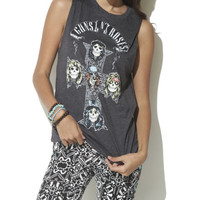 Guns N Roses Cross Muscle Tank - WetSeal