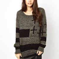 Only Knit Cross Jumper