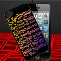 Harry Potter Black Magic Spells Design for iPhone 4/4s Case, iPhone 5 Case, iPhone Case,Accesories