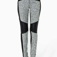 Shakuhachi Tweed Faux Leather Pant