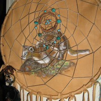 Cougar Totem Spirit Medicine Shield Dreamcatcher,native woven hemp