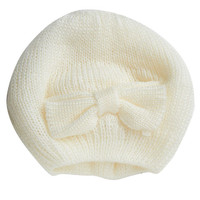 Bow Knitted Beret