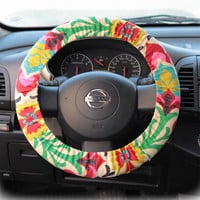 Steering wheel cover for wheel car accessories Floral Wheel cover