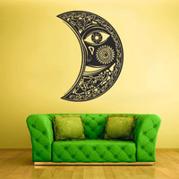 Wall Vinyl Sticker Decals Decor Art Bedroom Design Mural Sun Crescent Ethnical Symbol Menhdi Moon (z2121)