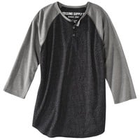 Mossimo Supply Co. Men's Baseball Henley - Assorted Colors