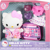 Hello Kitty Sanrio Hello Kitty Bubble Bath Decanter Set with 3 Outfits & 2 Fizzies