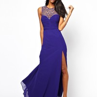 Lipsy VIP Cage Maxi Dress with Thigh Split