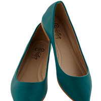Defined the Scenes Flat in Teal | Mod Retro Vintage Flats | ModCloth.com