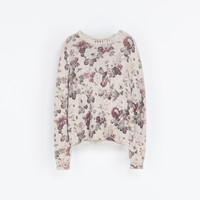 FLOWER PRINT SWEATER - Knitwear - WOMAN | ZARA United States