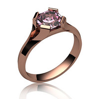 Rose Gold Rubellite Ring