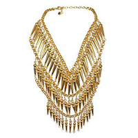 "GOTHAM CITY COUTURE DRAPED ""BREASTPLATE"" NECKLACE - Jewelry - TARINA TARANTINO"